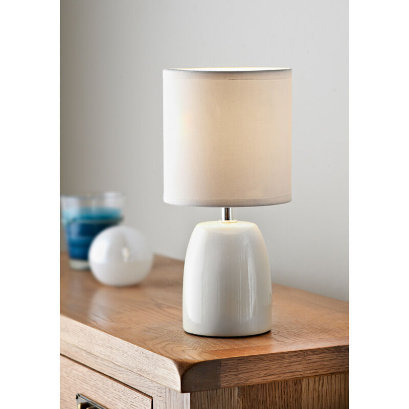 AMY CERAMIC TABLE LAMP BEDSIDE SIDE TABLE TOP CERAMIC LAMP
