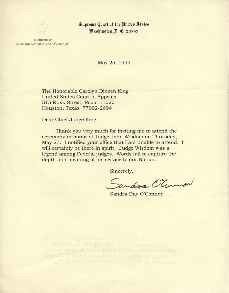 Sandra day oconnor autograpged signed typed letter us supreme court sandra day oconnor autograpged signed typed letter us supreme court justice ebay expocarfo Image collections