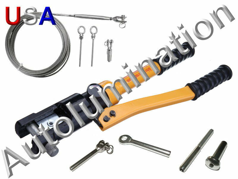 Stainless Steel Cable Hand Rail Hydraulic Crimper Crimp