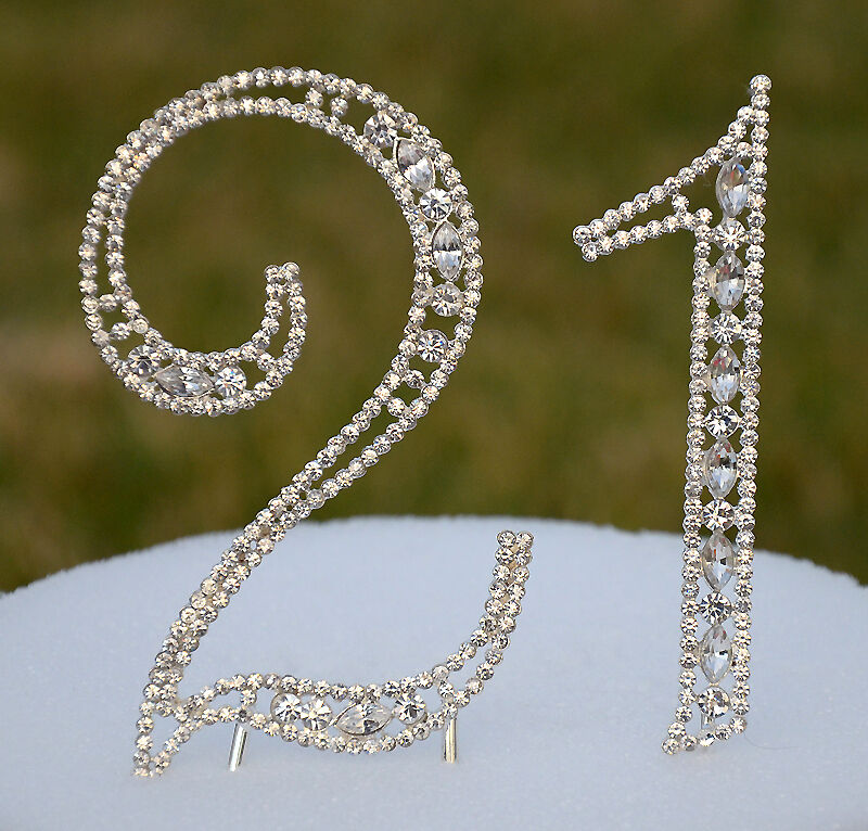 Bling Number Cake Toppers