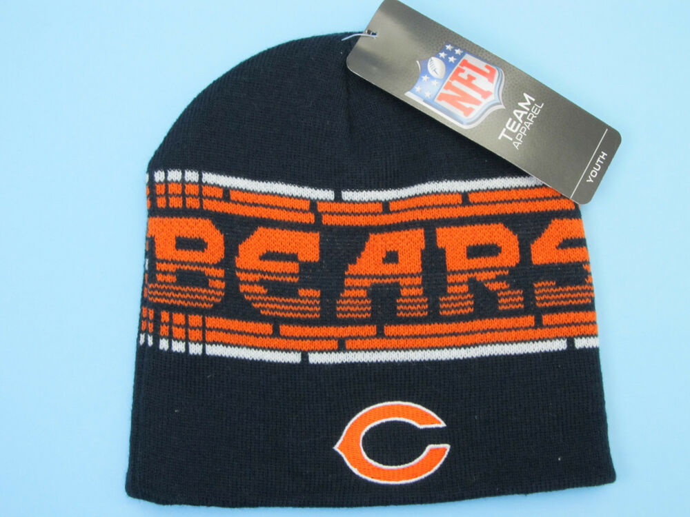 chicago bears knit beanie hats bears football winter kids. Black Bedroom Furniture Sets. Home Design Ideas