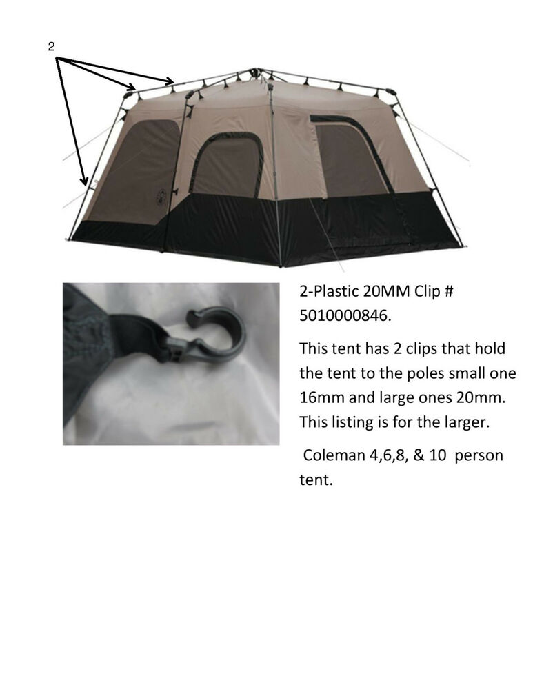 Coleman Instant Tent 8 Person Used Tent Parts 20mm Clip