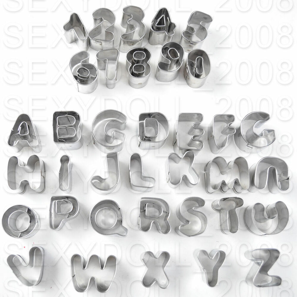 Alphabet Letter & Number Fondant Icing Cutter Set 37 Piece ...
