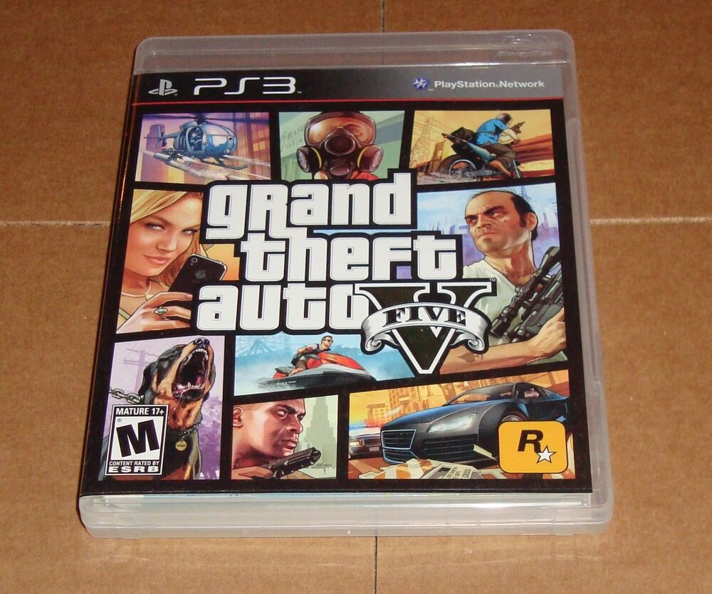 grand theft auto v sony playstation 3 ps3 w atomic blimp. Black Bedroom Furniture Sets. Home Design Ideas