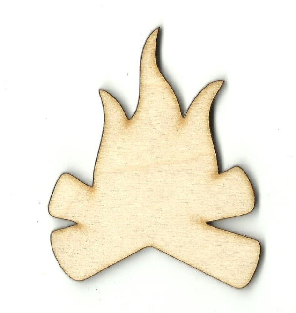 Campfire camping unfinished wood shapes craft supply laser for Wood cutouts for crafts