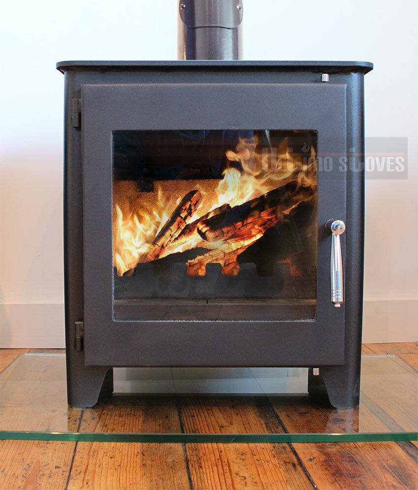 Saltfire st1 vision woodburning stove defra approved high for Small efficient wood stoves
