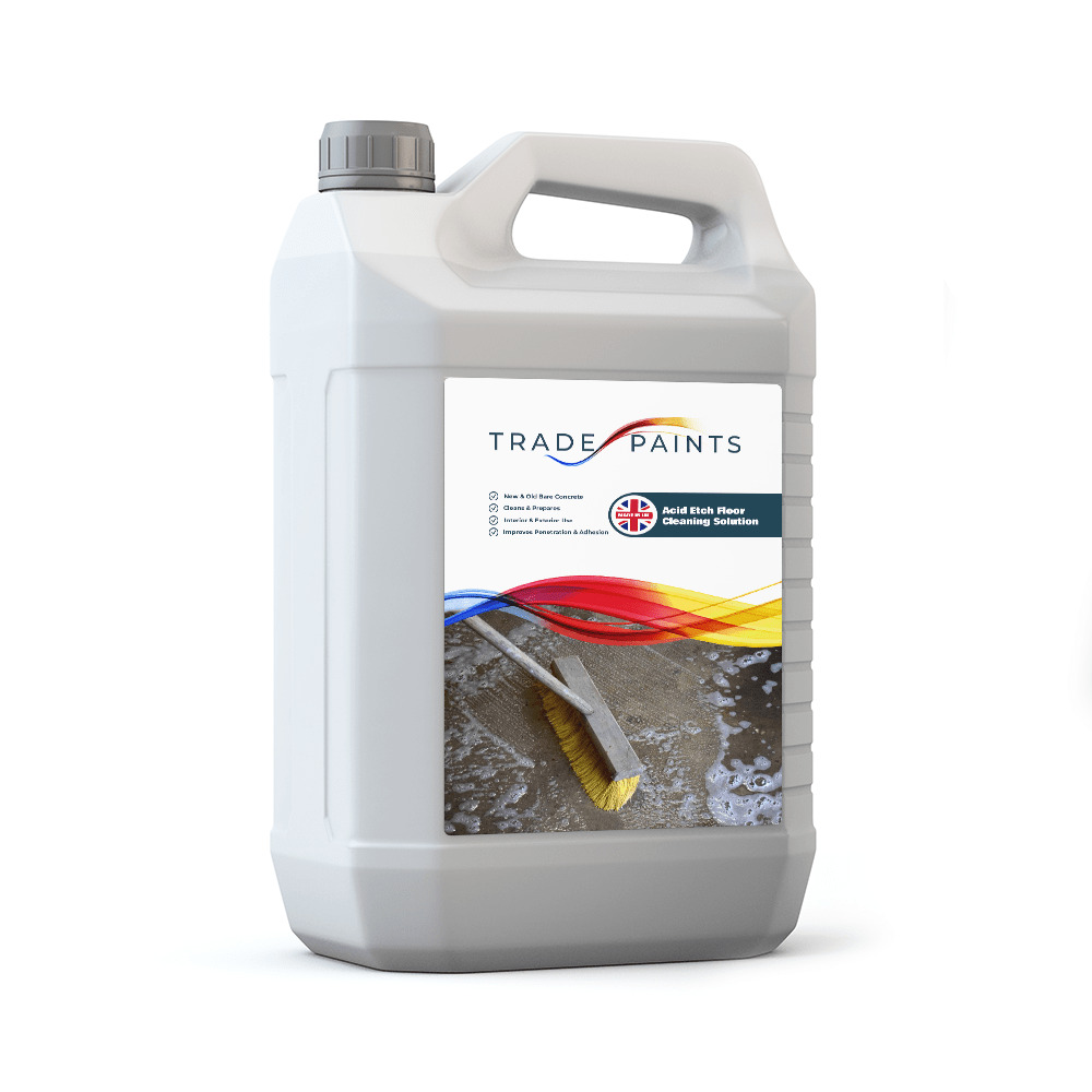 Acid etch concrete flooring cleaning solution 5 ltr ebay for Cement cleaning solution