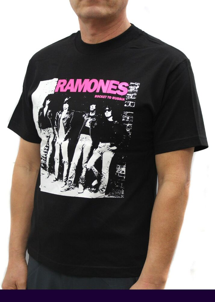 ramones punk rock band graphic t shirts pink ebay. Black Bedroom Furniture Sets. Home Design Ideas