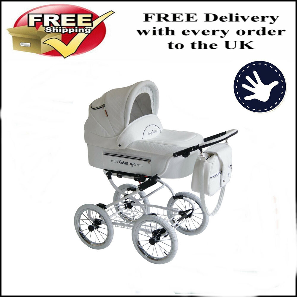 Baby Fashion Isabell Retro Baby Pram And Pushchair 2in1