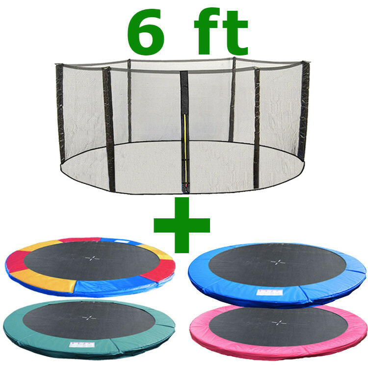 6 Ft Trampoline Replacement Safety Net Padding Spring