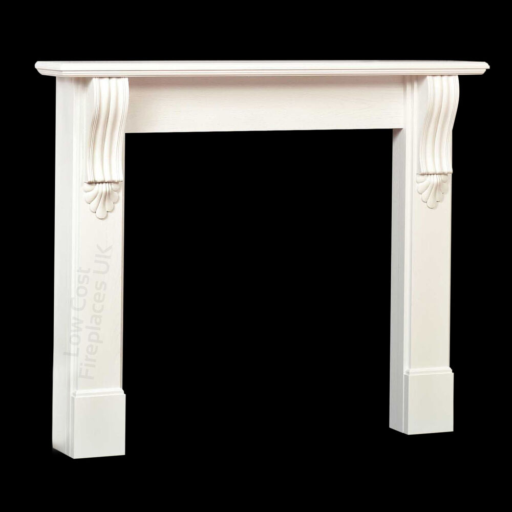 WHITE GAS ELECTRIC OR SOLID FUEL FIREPLACE FIRE MANTEL ...