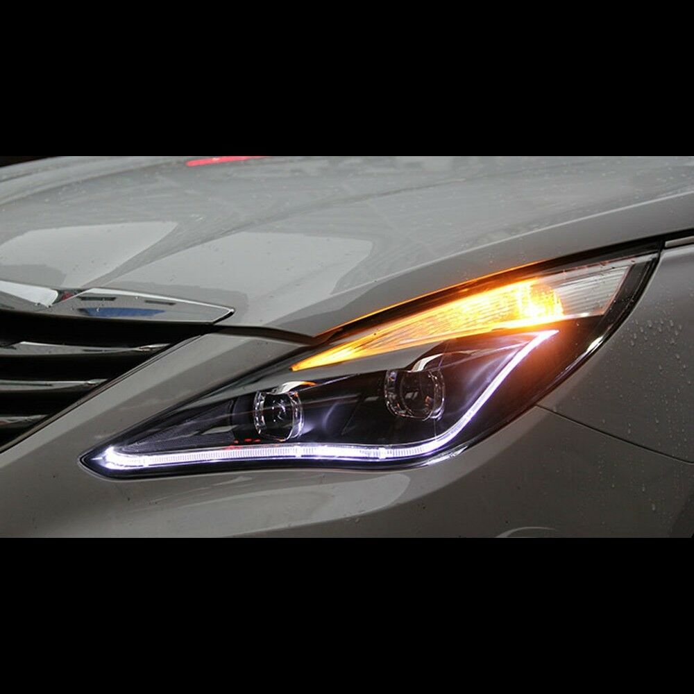 Led Xenon Hid Audi Style Dual Projector Headlights For