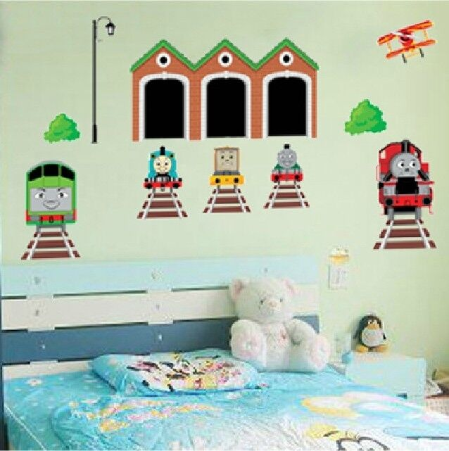 thomas the tank engine train removable wall art sticker. Black Bedroom Furniture Sets. Home Design Ideas