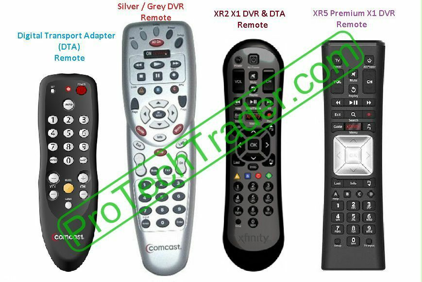 Comcast Xfinity Cable Tv Universal Remote Silver Xr2 Xr5 Xr11