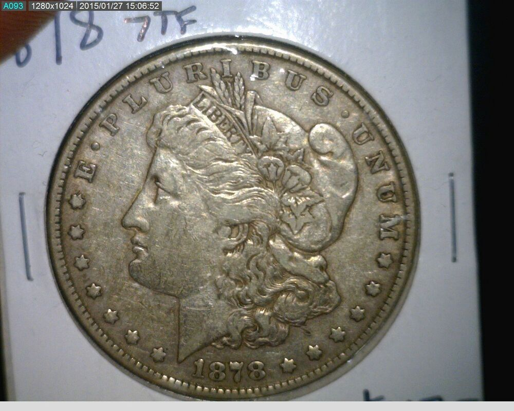 1878 P Morgan Silver Dollar Very Fine 7tf 7 Tail