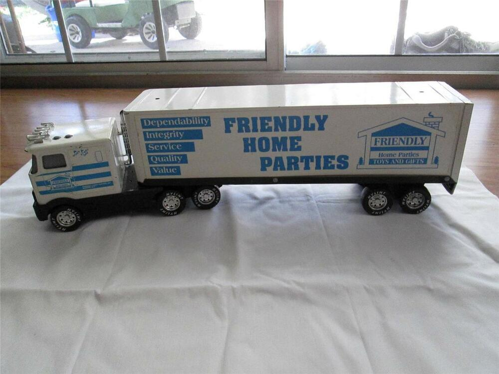 Toy Tractor Trailer Trucks : Nylint quot friendly home parties tractor trailer toy truck