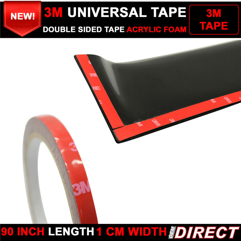 fits x2 3m double sided acrylic foam tape mounting adhesive 90 inch length ebay. Black Bedroom Furniture Sets. Home Design Ideas