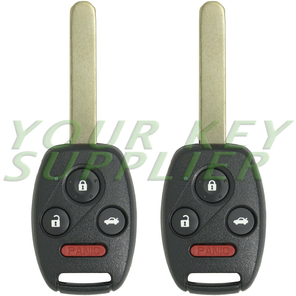 2 New Uncut Honda Civic Remote Key Fob Keyless Entry Replacement Transmitter Ebay