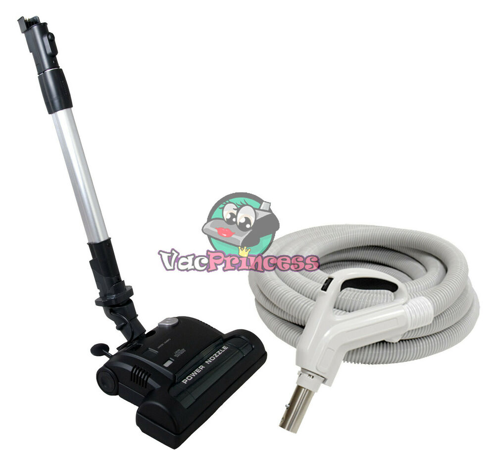 30 Or 35 Deluxe Central Vacuum Kit W Hose Power Head