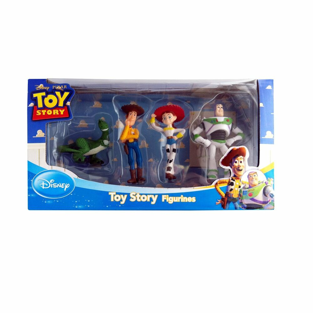 disney toy story figure rex woody jessie and buzz set 4. Black Bedroom Furniture Sets. Home Design Ideas