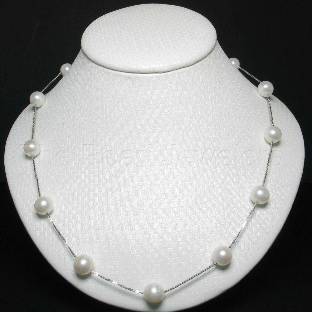 925 Sterling Silver Handcrafted Tin Cup Necklace Set White
