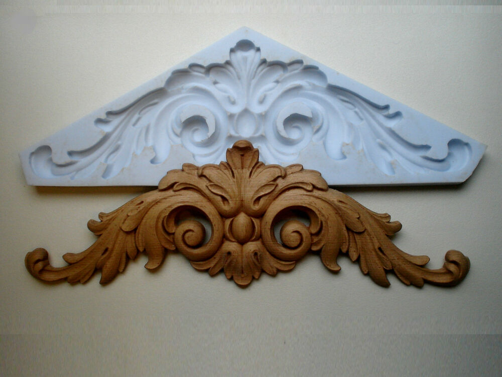 Large Ornate Double Scroll Mirror Pediment Moulding