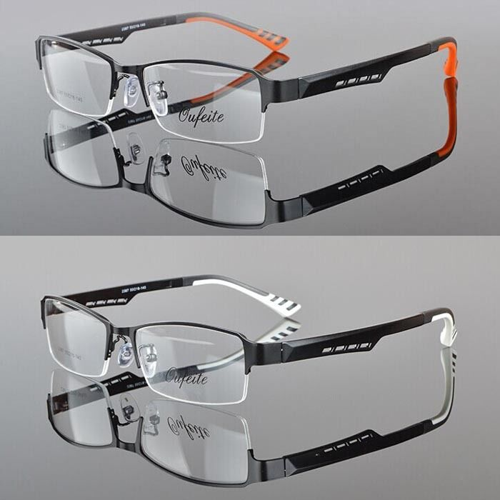 5a31c49f6bc2 Details about Men TR90 Half rimless sport Glasses Eyeglass Optical  Spectacles RX Eyewear Frame