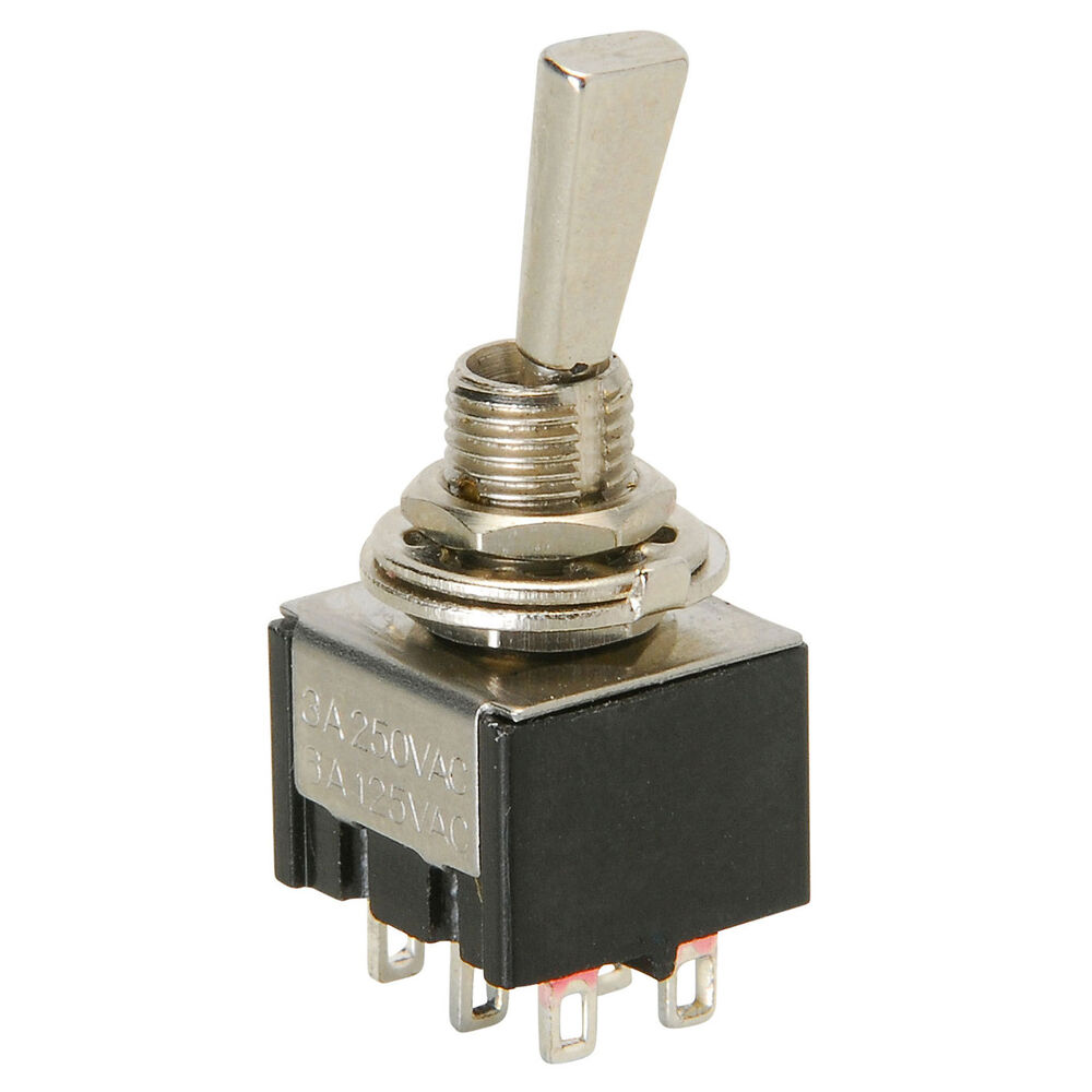 Dpdt mini paddle switch center off ebay