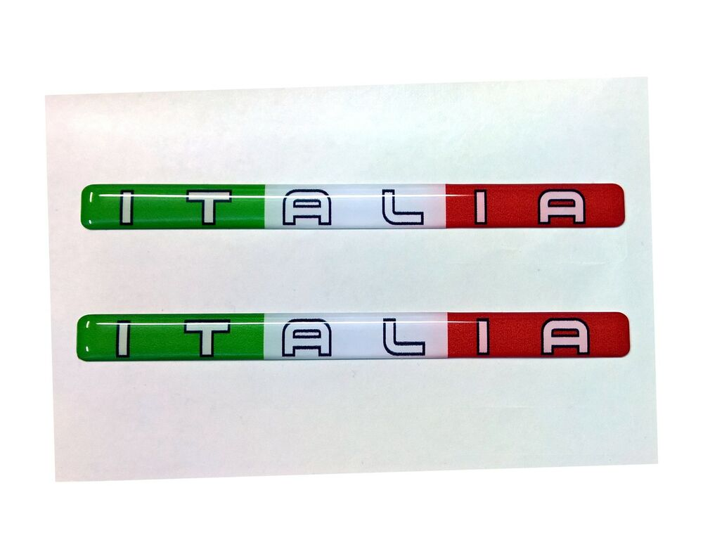 2x streifen flagge 3d emblem aufkleber italien italia motorrad tricolore helm ebay. Black Bedroom Furniture Sets. Home Design Ideas