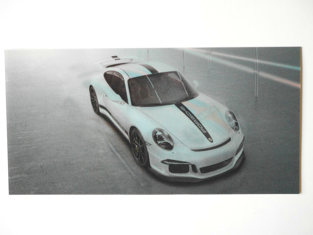porsche 911 aufkleber 3d karte 911 50 jahre porsche. Black Bedroom Furniture Sets. Home Design Ideas
