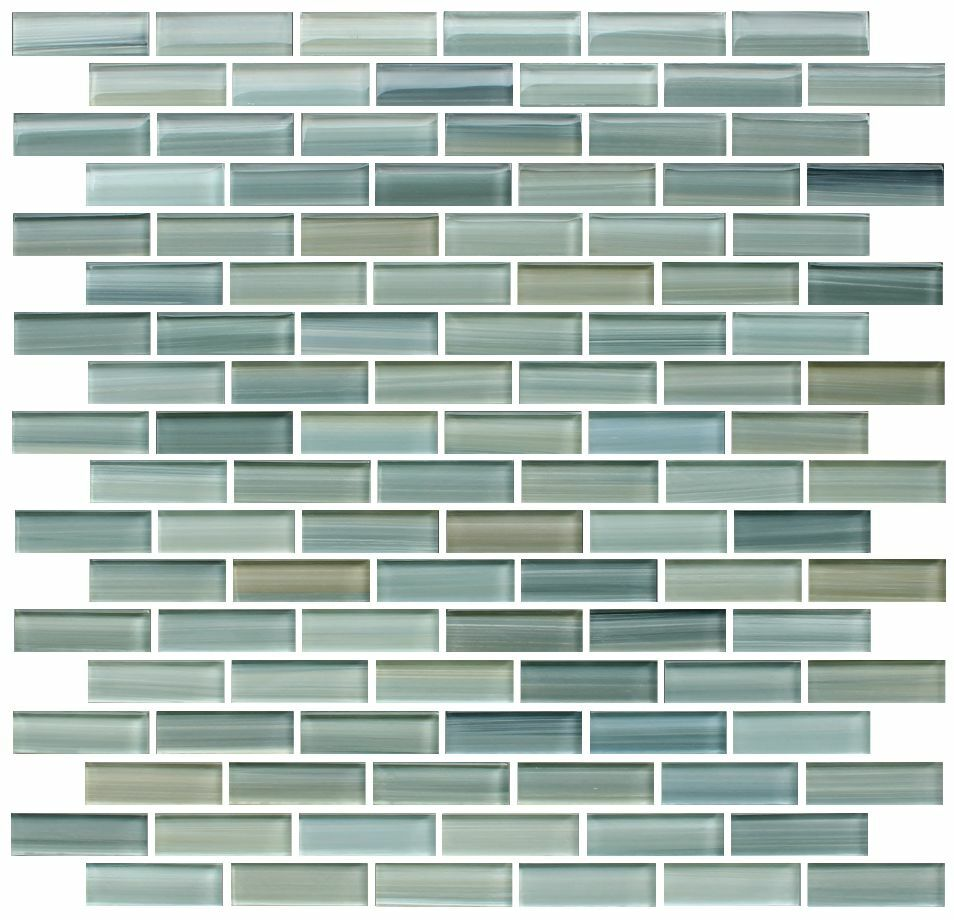 Reflections hand painted glass mosaic subway tiles for Back painted glass tile