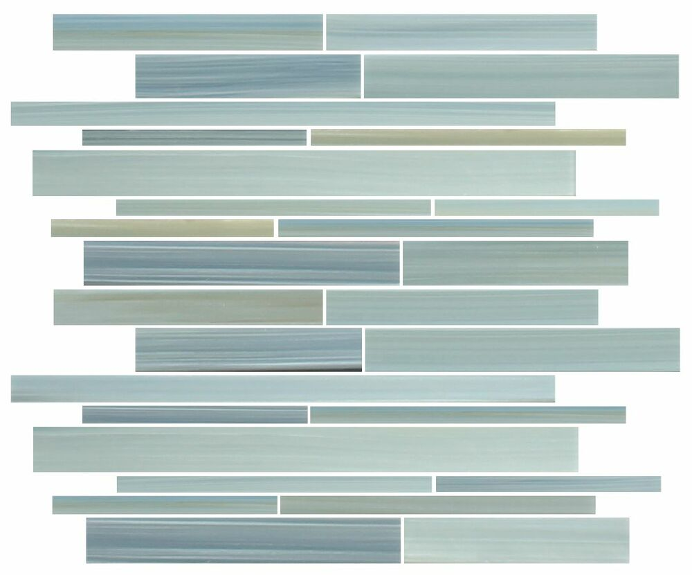 reflections hand painted linear glass mosaic tiles