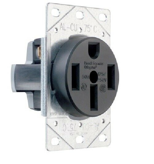 range receptacle wiring p & s 3894 straight blade range receptacle, flush, 3p 4 ... three receptacle wiring #12