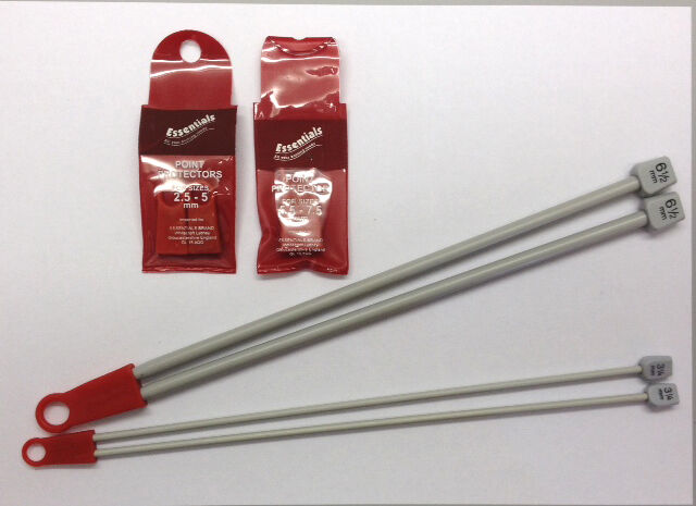 Knitting needles and point protectors