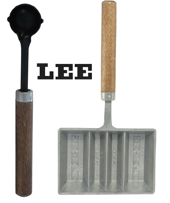 Lee Lead Dipper Amp 4 Cavity Ingot Mold With Handle Combo