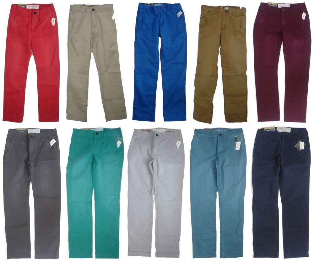 Mens Men's AEROPOSTALE Slim Straight Colored Chinos Uniform ...