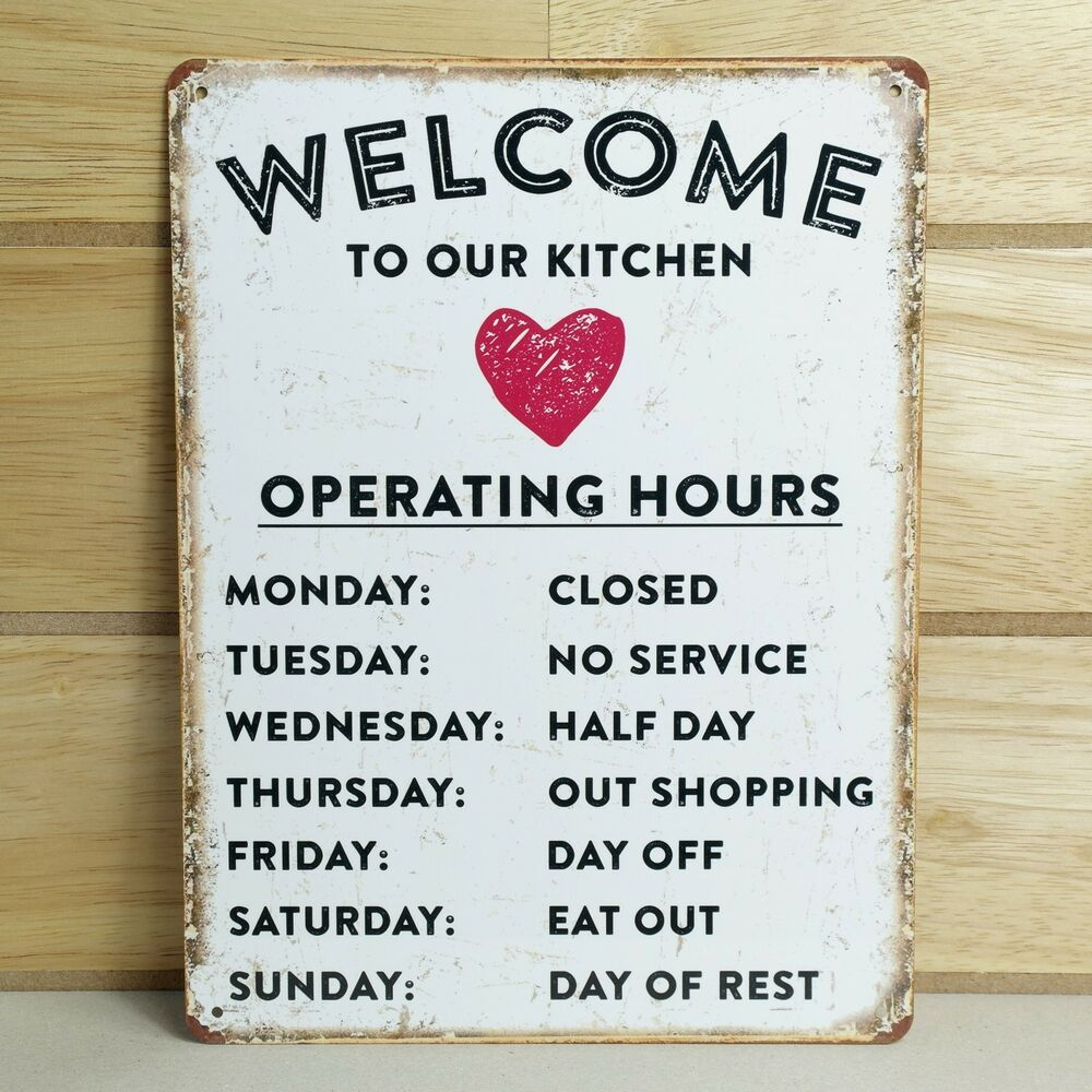 VINTAGE STYLE METAL WALL SIGN PLAQUE SHABBY CHIC KITCHEN