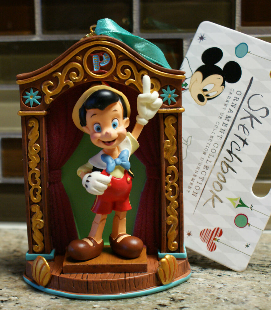 New Disney Store PINOCCHIO Sketchbook Christmas Ornament