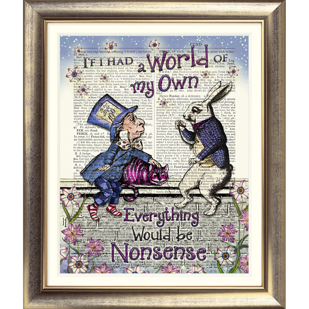 alice and the mad hatter lithograph printing memphis