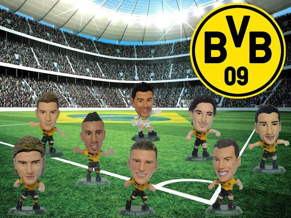 simba soccerstarz 2015 bvb09 borussia dortmund alle 8 spieler komplett set 14 15 ebay. Black Bedroom Furniture Sets. Home Design Ideas