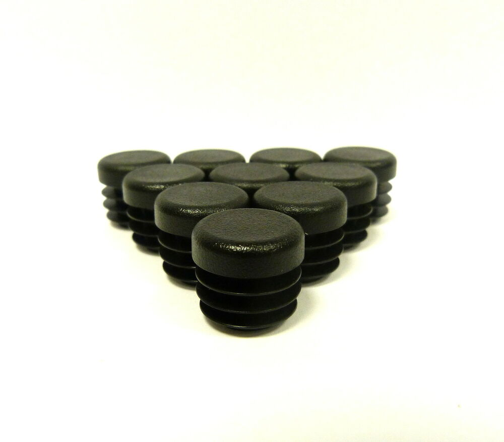 Patio Chair Feet Inserts: 25 X 19mm Round Tube Inserts, Chair Feet, Inserts, Plastic