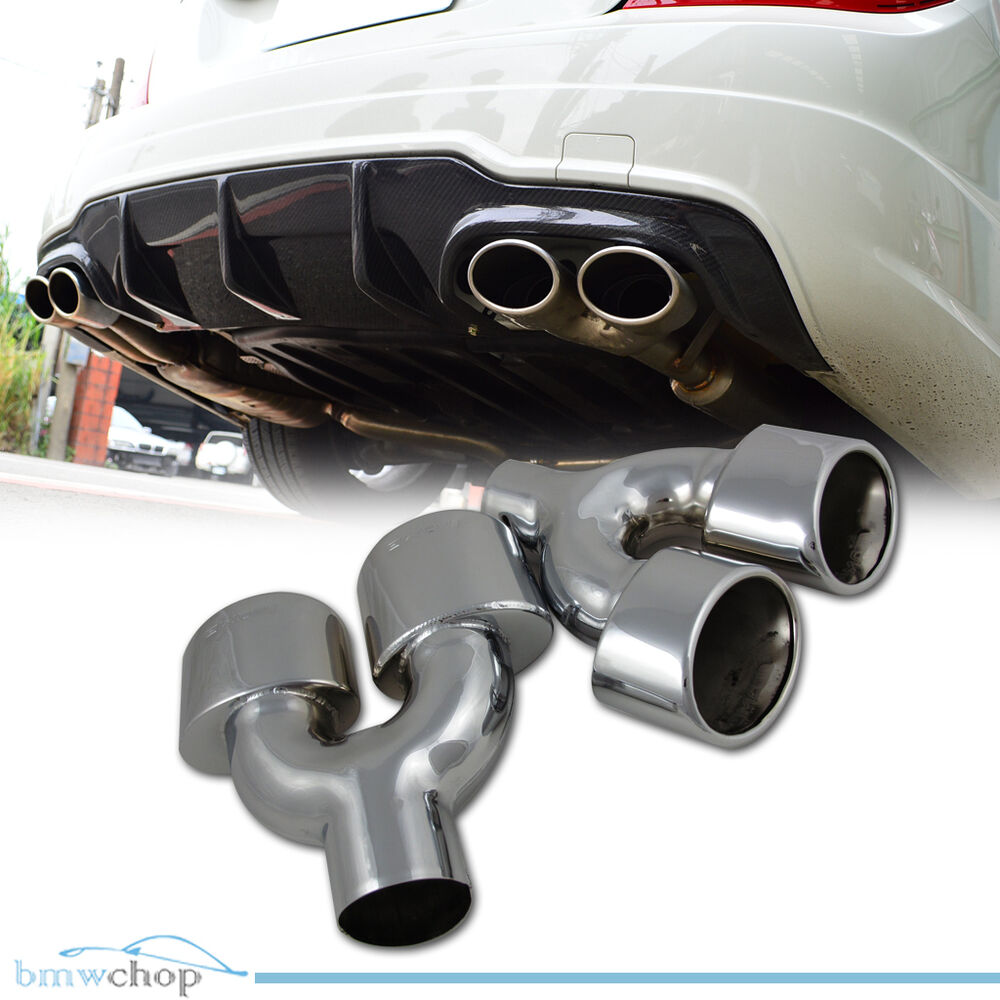 mercedes benz c class w204 exhaust tip tail pipe double