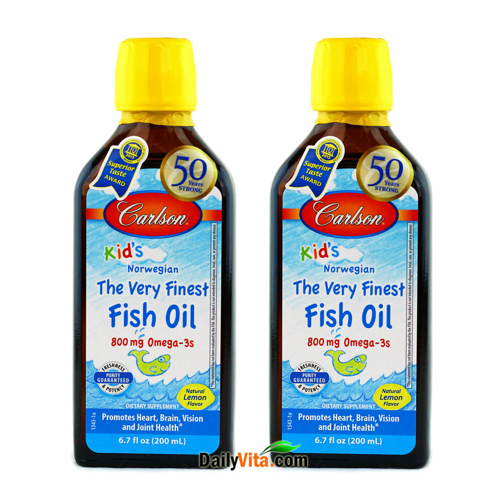 2 x carlson for kids the very finest fish oil 200 ml for Carlson s fish oil lemon