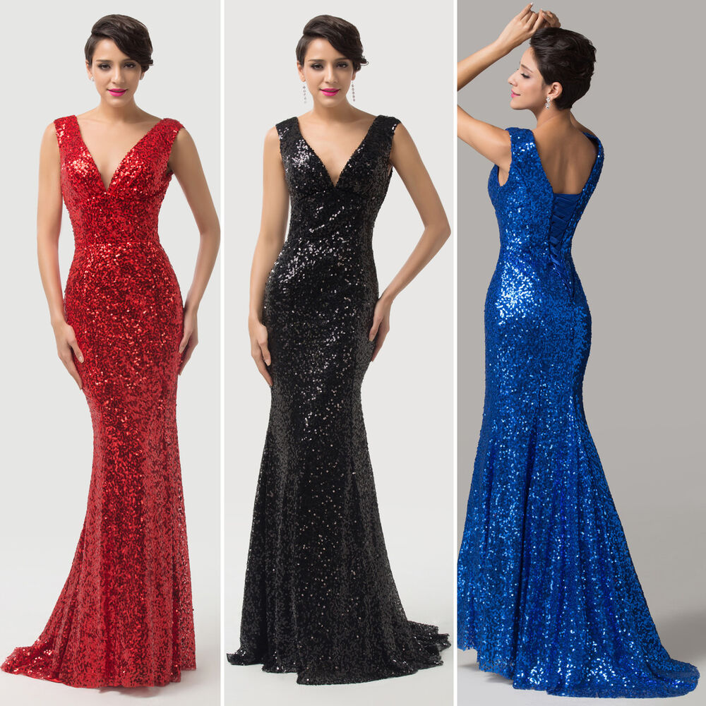 Plus Size Prom Ball Gowns: PLUS SIZE Mermaid SLIM Evening Formal Ball Gowns WEDDING