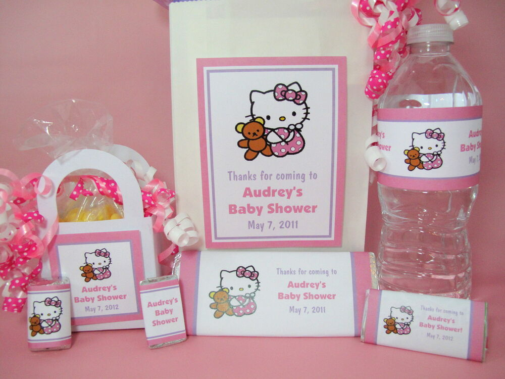 Hello Kitty Baby Shower PDF CD W/ Favor Tags Water Popcorn Candy Games  Wrappers | EBay