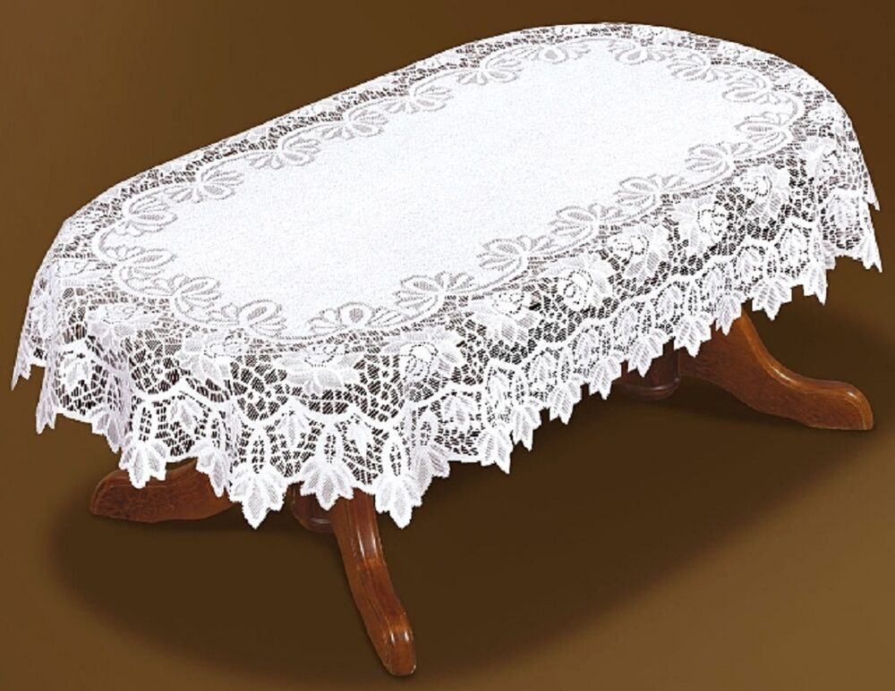 Tablecloth large oval lace white NEW 59quot x 98quot150x250cm  : s l1000 from www.ebay.co.uk size 1000 x 773 jpeg 111kB