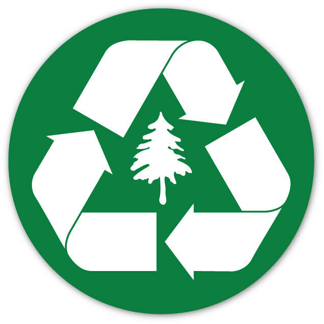 set of 2 recycle logo symbol green recycle bin trash can