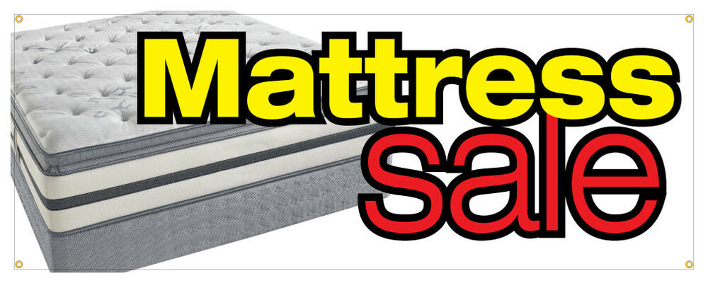 Mattress Sale Banner Bed Sleep Store Sign 36x96 Ebay