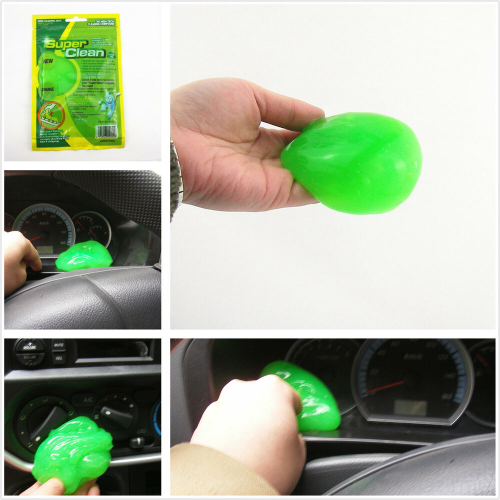 auto interior dashboard air outlet armrest box dust magical green clean gel glue ebay. Black Bedroom Furniture Sets. Home Design Ideas