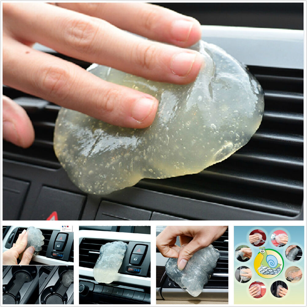 auto suv interior dashboard air outlet dust transparent cleaning soft gel glue ebay. Black Bedroom Furniture Sets. Home Design Ideas